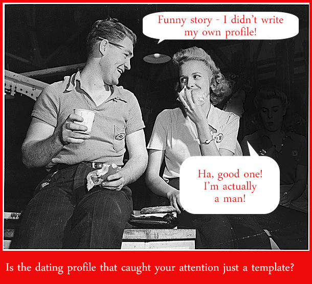 insider online dating profile templates copies fake copied not real